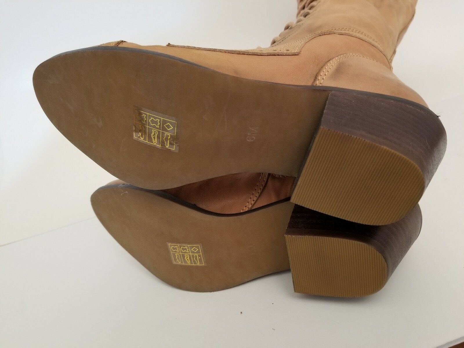 Free People People People Jeffrey Campbell Joe Lace Up Boots Sand Leather Size 6 New c0b036