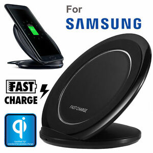 Wireless Induktive Ladegerät Ladestation Fast Charger f. Samsung Galaxy S6 S7