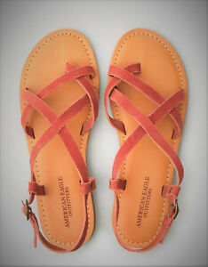 NWT-American-Eagle-Outfitters-Sandals-Women-039-s-Sz-7-Suede-Toe-Strappy-Sandal-AEO