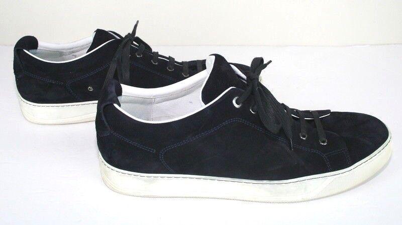 Lanvin en Daim Noir À Lacets Baskets Pour Homme Chaussures 12