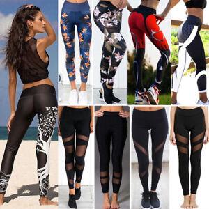 Sports-Women-YOGA-Workout-Gym-Fitness-3D-Print-Leggings-Pants-Run-Athletic-Wear