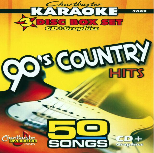 Karaoke CD+G Chartbuster 5009 The 90's Country Hits Box Set 50 Songs New