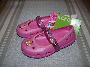 82a7a01241d0e4 Image is loading Crocs-Kids-Keeley-Disney-Princess-Flat-Toddler-Little-