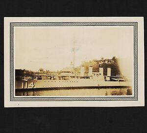 1934 RPPC USS Talbot DD 114 Visiting Albany New York