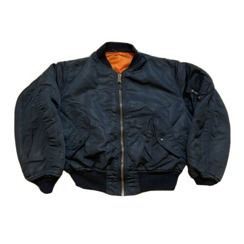 Vintage Alpha Industries Black Flight Jacket MA-1