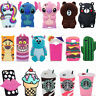 3D Cute Cartoon Animals Soft Silicone Case Cover Back For Samsung Various Phones