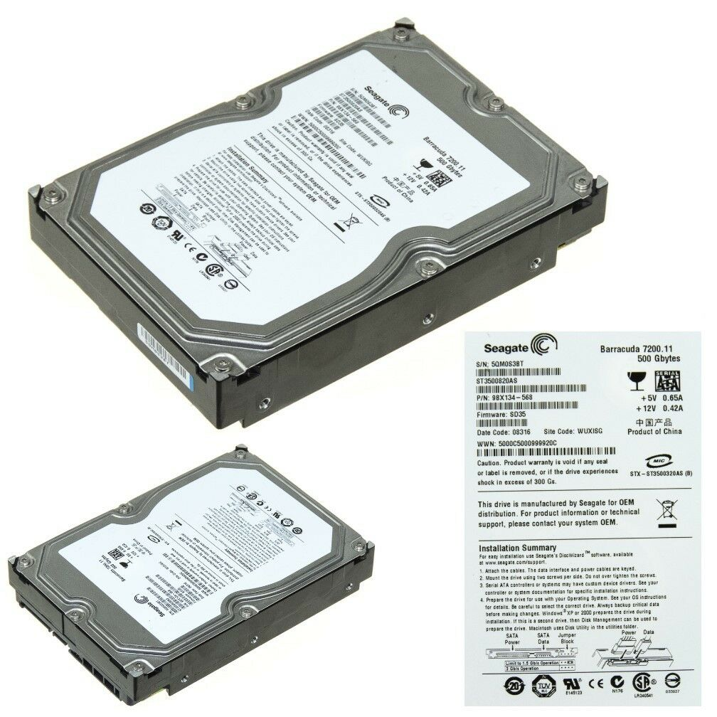 Seagate ST3500820AS SATA Drive New