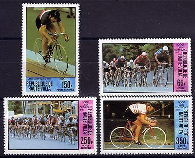 Olympiade Sommer 1980 Aggressiv Burkina Faso-obervolta 795-98 ** Radrennen