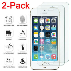2Pcs-Tempered-glass-Screen-Protector-Protective-Film-For-Apple-iPhone-SE-5-5S-5C