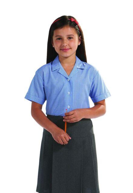 Blue Max Banner Girls Twin Pack Short Sleeve School Blouse