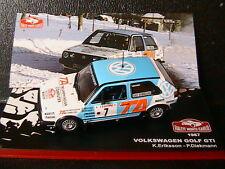 VW GOLF GTI MKII #7 RALLYE MONTE CARLO 1987 ERIKSSON DIEKMANN IXO 1/43 ADLER TA