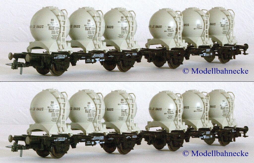 Confezione doppia ROCO 46520 contenitore carrello portante Unità DB ognuna con 6 contenitore a sfera