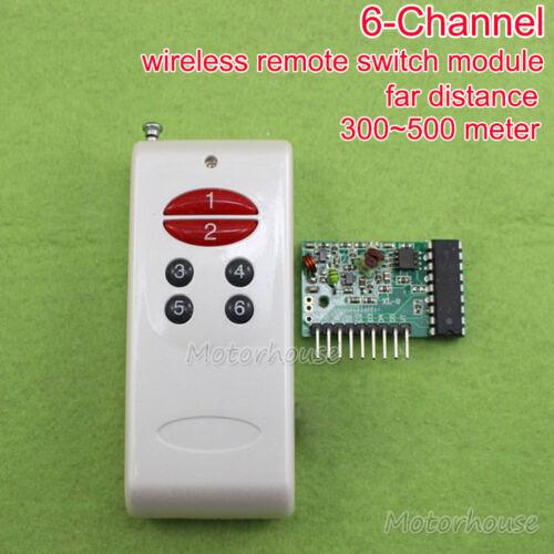 DC 5 V 6 Canaux Sans Fil Relais Commutateur Télécommande Émetteur Récepteur 315 MHz