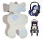Atmungsaktive Sitzeinlage Sommer Sitzauflage für Kinderwagen Buggy /& Kindersitz