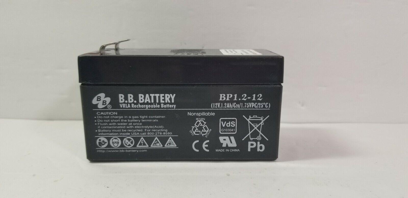 Battery: BB battery   BP 1.2-12   12V, 1.2AH   VRLA Rechargeable