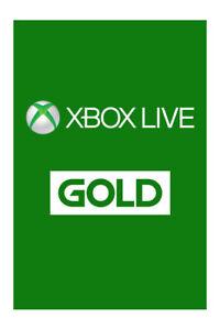 Microsoft Xbox Live Gold 12 Month MS Membership Card