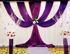 Silk fabric wedding decoration backdrops wedding stage curtain image is loading silk fabric wedding decoration backdrops wedding stage curtain junglespirit Choice Image