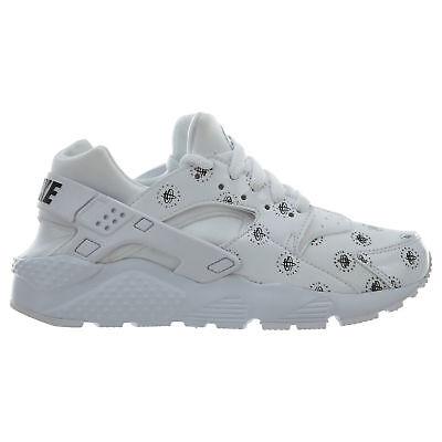 Nike Huarache Run SE Big Kids 909143-100 White Black Athletic Shoes Size 5.5 | eBay