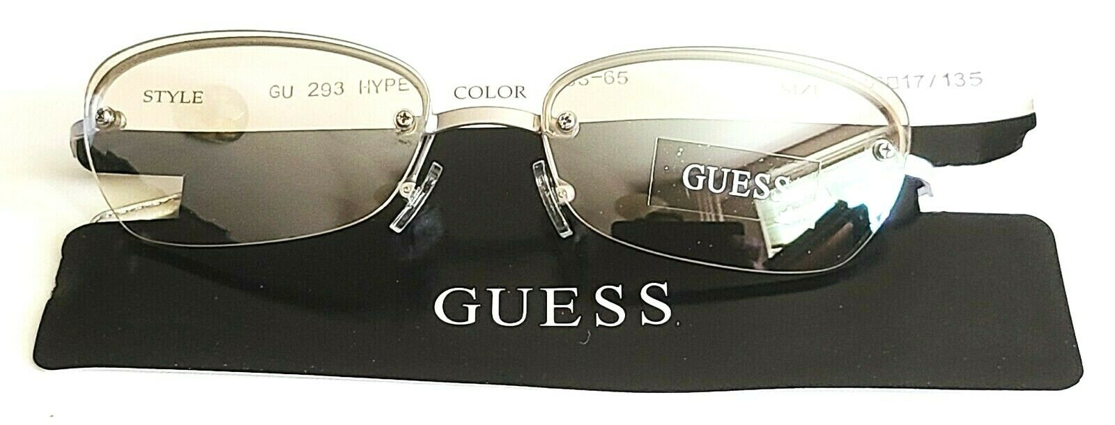 GUESS GU 293 Hype SS-65 Silver Oval Sunglasses 56/17 135 Clear Tint