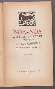 Paul-Gauguin-NOA-NOA-E-ALTRI-SCRITTI-Bompiani-1945
