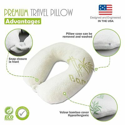 Premium Bamboo Pillow Memory Foam Neck