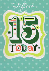 Image Is Loading Boys 15th Happy Birthday Card Age 15 Today