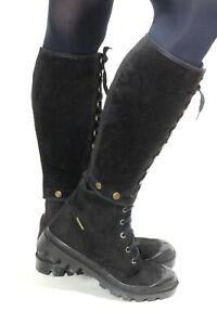 599 Chaussures à Lacets Basses Bottes en Cuir Velours Palladium Retro 90er 37