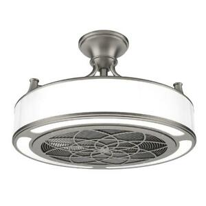 Brushed nickel ceiling fan 22in led light home modern speed brushed nickel ceiling fan 22in led light home modern speed controlled 24watt mozeypictures Images