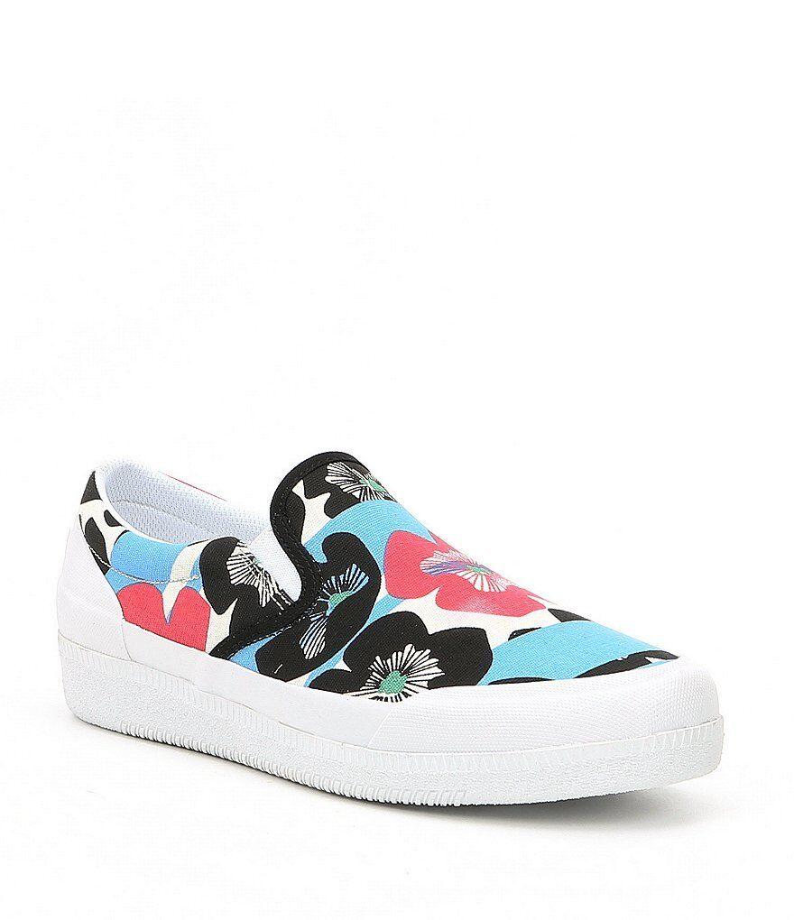 Nuevo En Caja Caja Caja Hunter Floral Lona Impermeable Sin Cordones Tenis Zapatos De Mujer Talla 7  toma