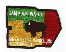 BOY SCOUT   CAMP AM-WA-CO  50'S PP   BUFFALO TRACE CNCL   IND