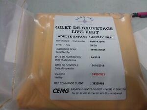 Cemg Gilet E Sauvetage P01074.101w Xf-35 Belle En Couleur