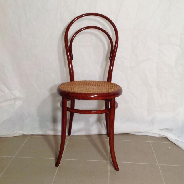 Seltener Original Thonet Stuhl Nr 14 Erste Etikette Grün Frühe