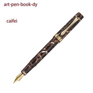 LIY Resin caifei Coffee Fountain Pen Fine Schmidt Gold-plated Nib