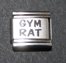 Italian Charm Gymnastics Gym Rat 9mm Bracelet Link