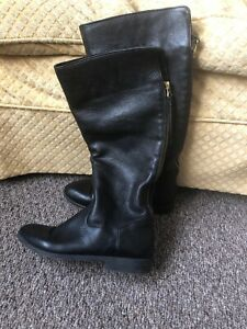 Soft Leather Knee High Riding Boots
