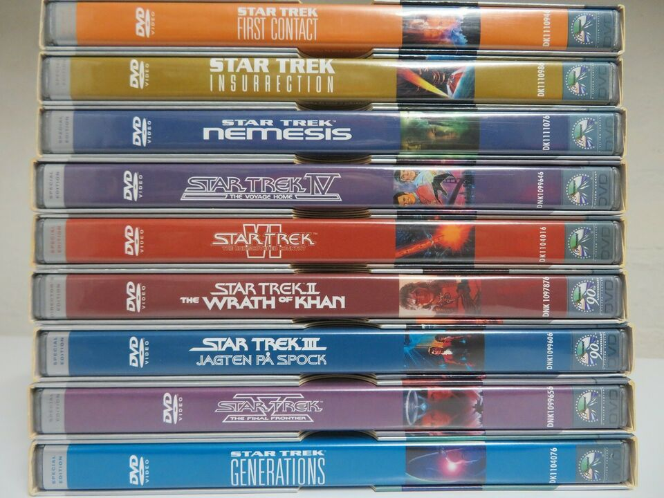 Star Trek, DVD, eventyr