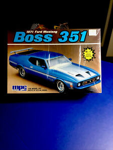 MPC ERTL 1971 Ford Mustang Boss 351 1/25 #6249 Factory Sealed In '88 Model Kit