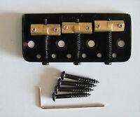 Wilkinson WTBS Half Size TELE Telecaster Guitar Bridge Black w/ Brass Saddles