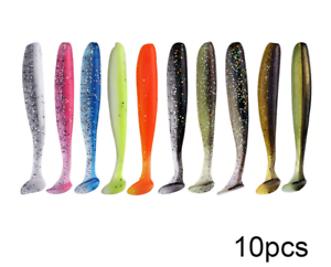 10pcs Soft Lures Silicone Bait 7cm 2g Goods For Fishing Swimbait Wobblers Artifi