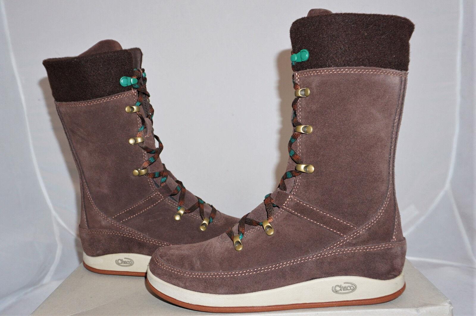 Chaco Uma UK 9 EU 42 US 11 Winterstiefel hohe Schuhe braun Leder NEU