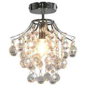 vidaXL-Ceiling-Lamp-with-Crystal-Beads-Silver-Round-E14-Hanging-Light-Fixture