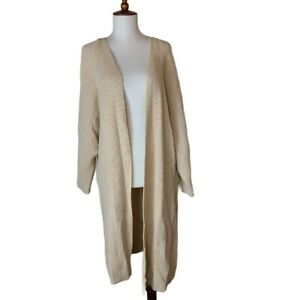 Buy Cheap Marled Glitter Knit Open Cardigan Beige Tan Sweater Large Nwt To Ensure Smooth Transmission