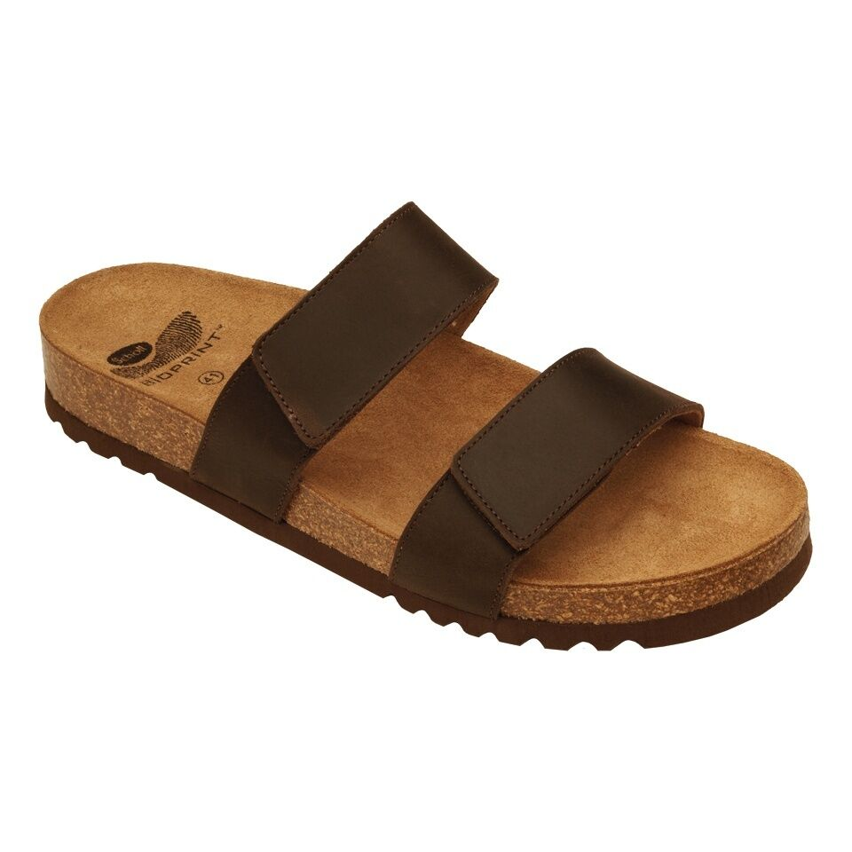 Scholl Brown tymeg bioprint Slippers Men 39 40 41 42 43 44 45 46 sea sandals