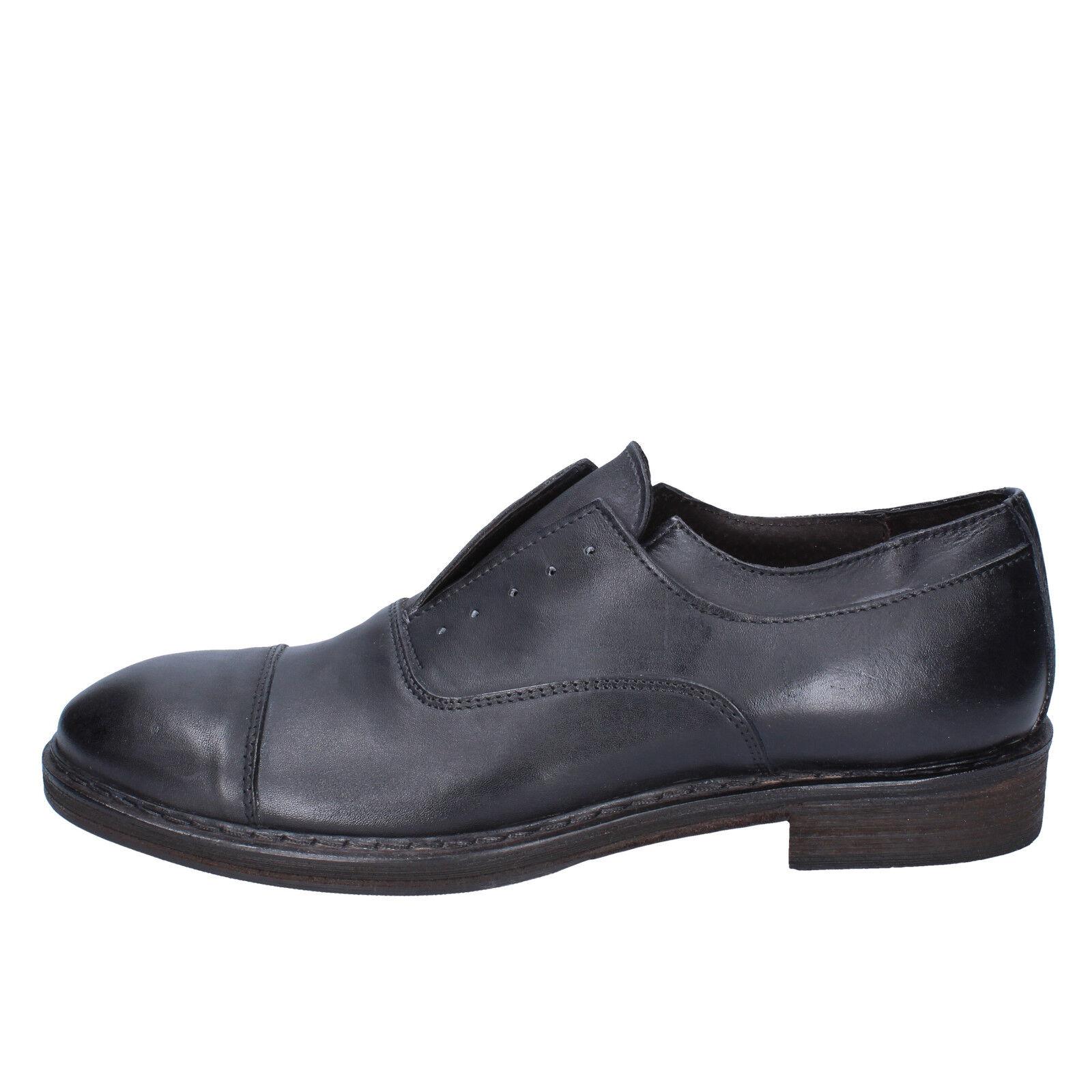 Scarpe uomo CESARE Maurizi 43 UE elegante grigio in pelle bx516-43 Scarpe classiche da uomo