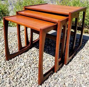 Quadrille Teak Nesting Tables by Roger Bennett for G-Plan, E. Gomme, 1967