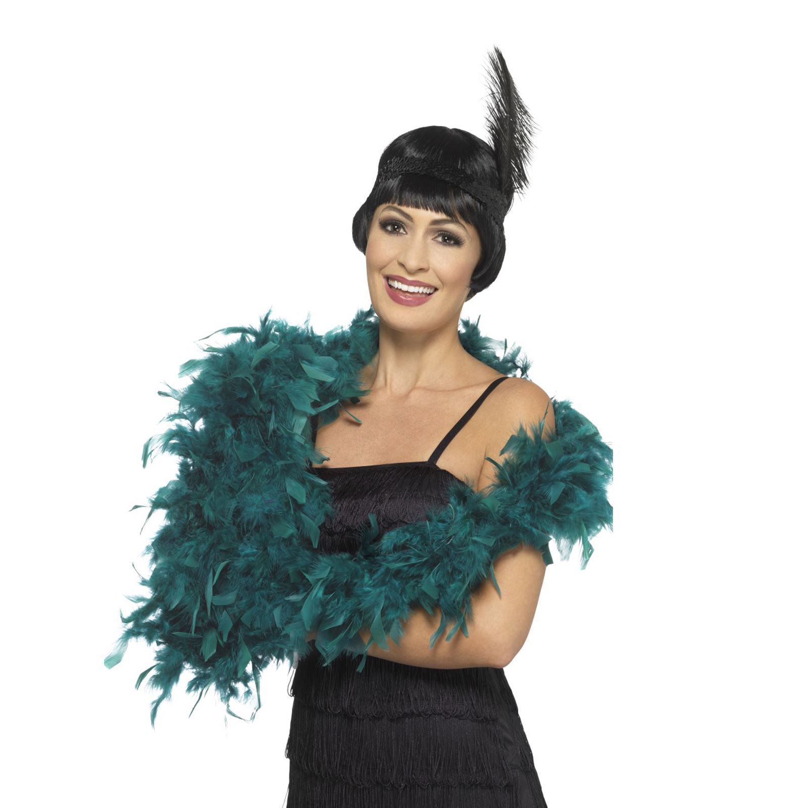 Deluxe Feather Boa Silver 180cm 80g Adult Womens Fancy Dress Accessory
