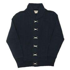 Heritage Research USN Deck Clip Jacket Cardigan Navy - Medium