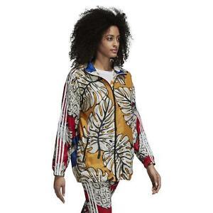 Adidas Originals X Farm Women's Graphique Coupe-Vent Veste Manteau