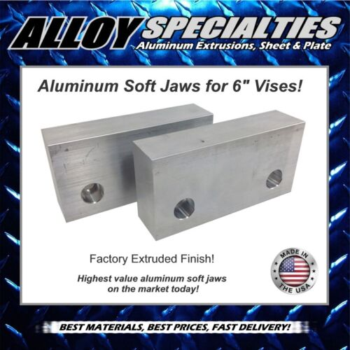 """1.5 x 3 x 6/"""" Extruded Aluminum Soft Jaws for 6/"""" Kurt Vise Chick Te-co Toolex"""