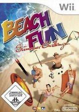 Nintendo Wii +Wii U BEACH FUN SUMMER CHALLENGE  Tennis Wasserski Boccia Neuwerti